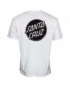 SANTA CRUZ Herren T-Shirt Contra Dot Mono White