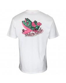 SANTA CRUZ Herren T-Shirt No Pattern Screaming Hand Tee White