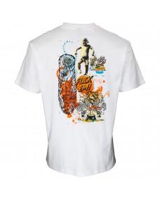 SANTA CRUZ Herren T-Shirt Salba Archive White