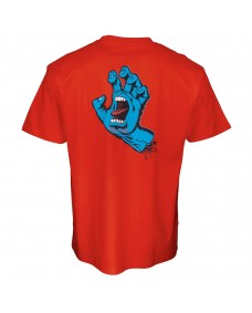 SANTA CRUZ Herren T-Shirt Screaming Hand Chest T-Shirt Flame Red