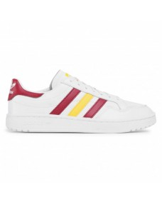 ADIDAS Unisex Schuhe Team Court White / Burgundy