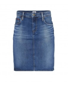 TOMMY HILFIGER Damen Rock Classic Denim Skirt Victoria Blue