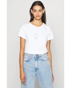 TOMMY HILFIGER Damen T-Shirt Outline Flag White