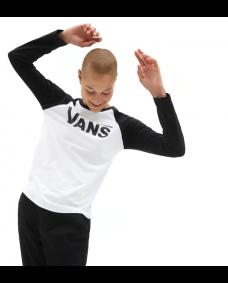 VANS Damen Shirt Flying V Raglanshirt Black / White