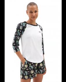 VANS Damen T-Shirt Califas White / Califas Black