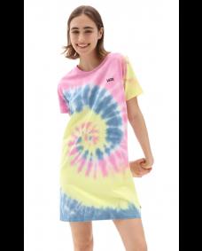 VANS Damen T-Shirt Kleid Spiral Wash Orchid