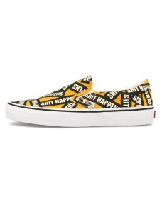 VANS Unisex Schuhe Slip-On (Shit Happens) Yellow / True White