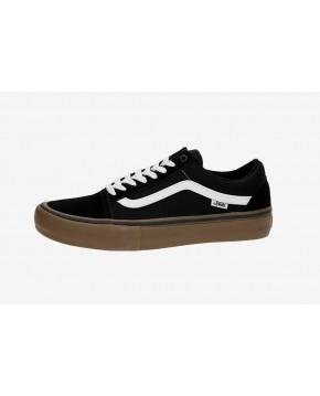 VANS Unisex Schuhe Old Skool Pro Black / White / Medium Gum